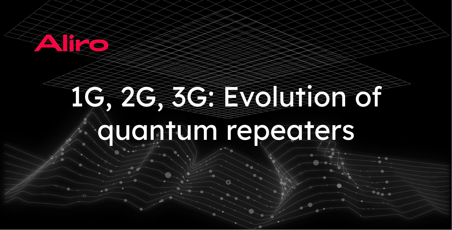 1G, 2G, 3G: Evolution of quantum repeaters