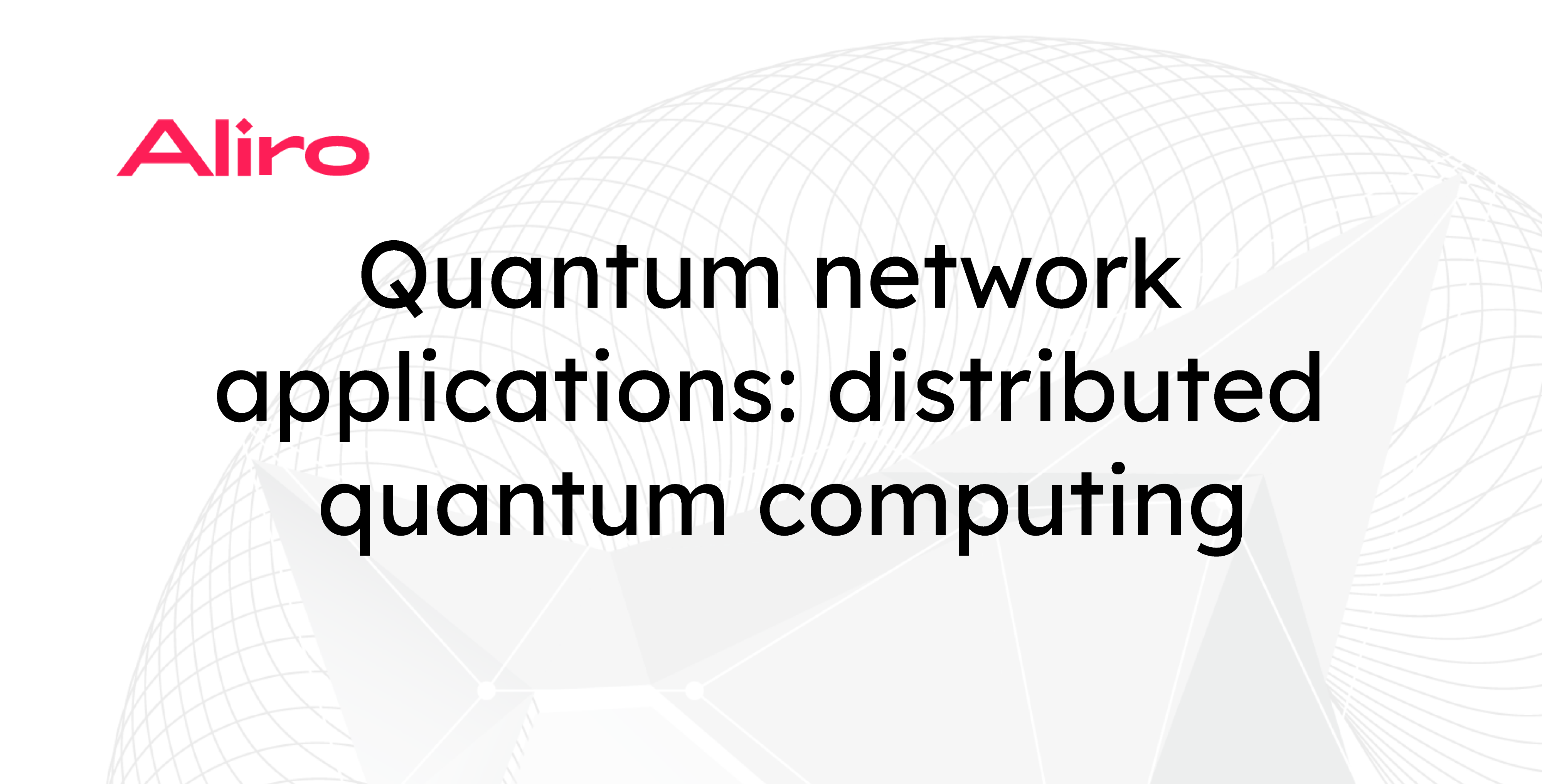 Quantum network applications: distributed quantum computing