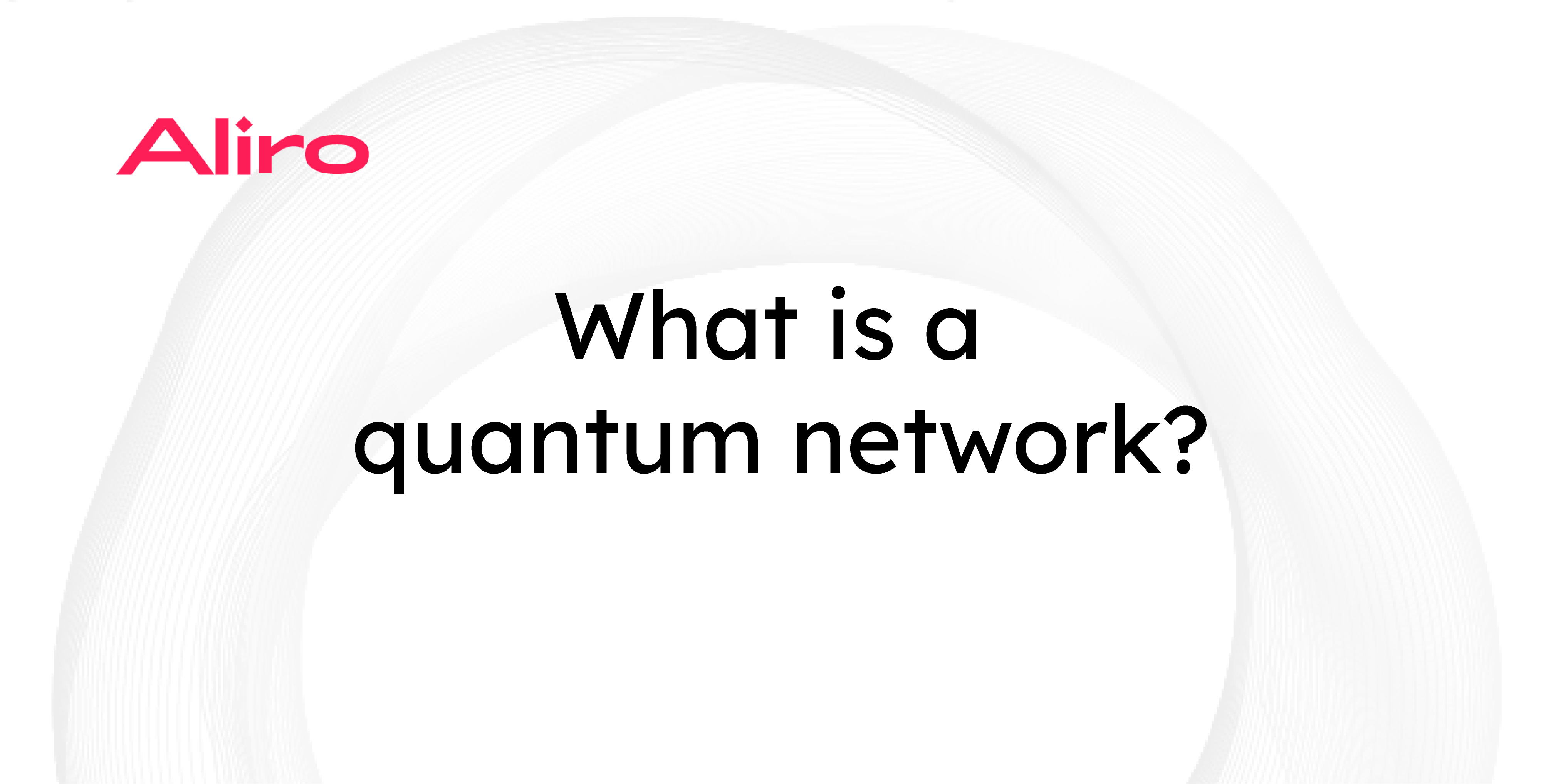 What is a quantum network?