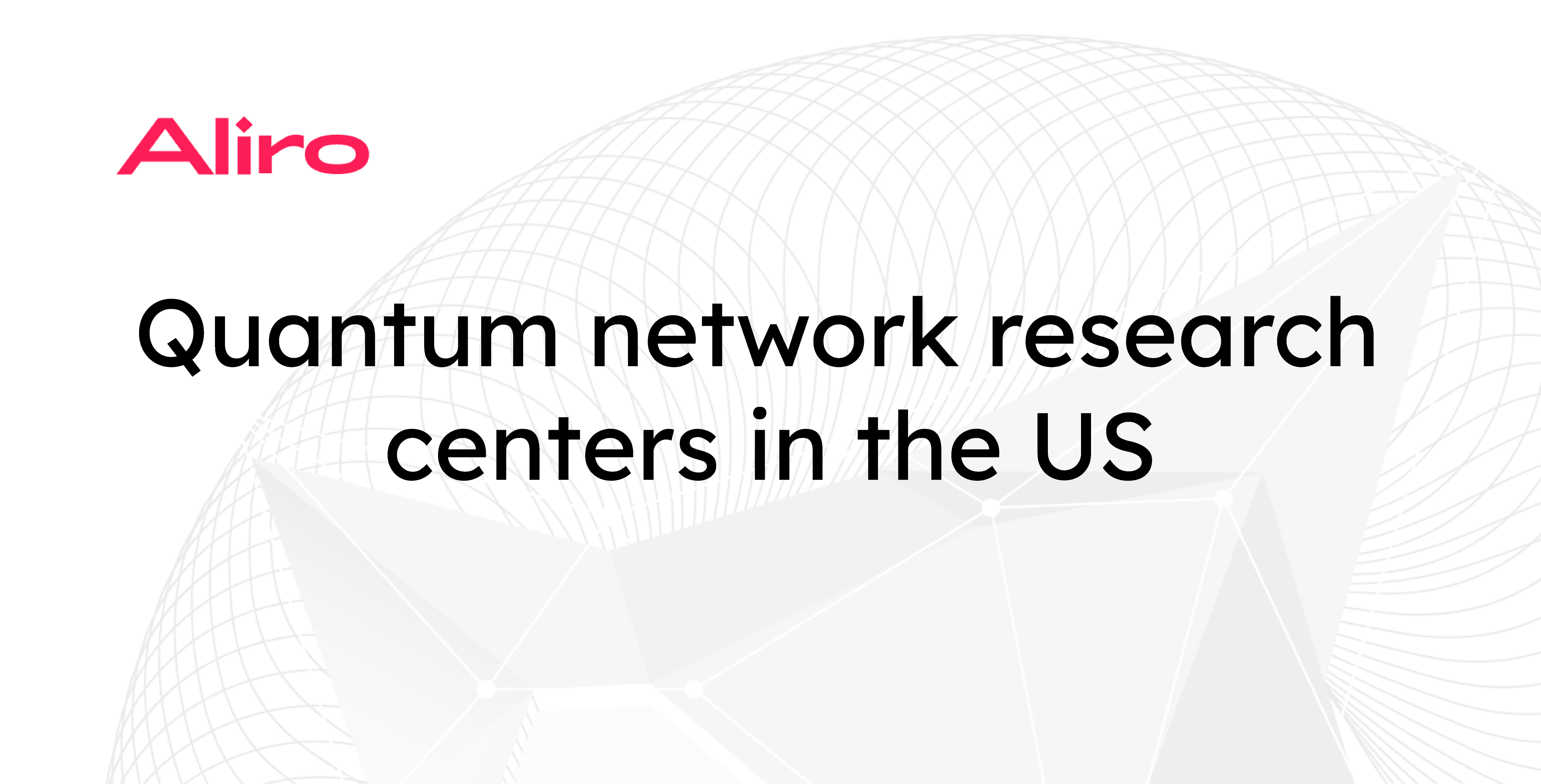 Quantum network research centers in the US